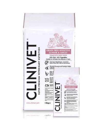 clinivet grain free sensitive fish